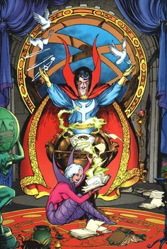 Doctor Strange Pinup art by Will Simpson. Marvel Comics Art, Marvel Comic Books, Comic Book Characters, Marvel Characters, Marvel Heroes, Comic Character, Comic Books Art, Comic Art, Comic Pics
