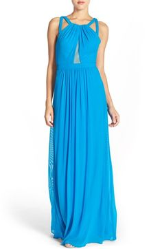 Faviana Halter Gown with Illusion Inset