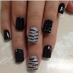 Black and silver nails - Your own fashion