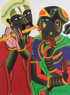Painting Of T.Vaikuntam (acrylic on canvas) Updated On Our Website www.studio3india.com