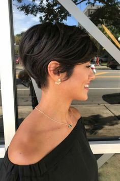 Layered Pixie Hairstyle Short Layered Pixie Haircut Back View Source Messy Short Layered Pixie Hairstyle Dark Brown Layered Short Pixie Cut Layered Pixie Haircut Open Next Page To See More. Haircut for Girls Long Blonde Pixie-Bangs Pixie Hairstyles, Short Hairstyles For Thick Hair, Short Bob Haircuts, Girl Haircuts, Fringe Hairstyles, Short Hair Cuts For Women, Trending Hairstyles, Pixie Haircut, Easy Hairstyles