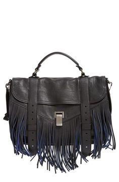 Proenza Schouler 'Medium PS1' Fringe Leather Satchel available at #Nordstrom