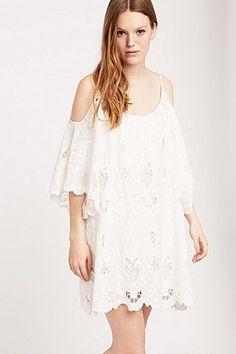 """Little White Lies – Schulterfreies Kleid """"Pamela"""" in Weiß"""