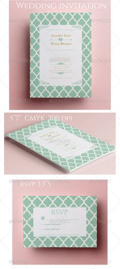 Simple Wedding Invitation and RSVP — Photoshop PSD #rsvp #design • Available here → https://graphicriver.net/item/simple-wedding-invitation-and-rsvp/8466532?ref=pxcr