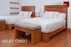Recamara Ranura -muebles de interior /indoor furniture  -Diseño Rojo Óxido  www.rojooxido.mx Bed, Furniture, Home Decor, Home, Red, Interiors, Blue Prints, Decoration Home, Stream Bed