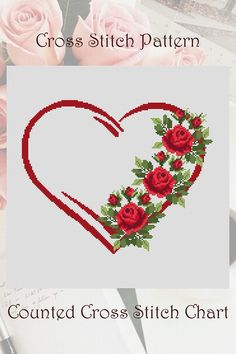 Embroidery Hoop Art, Cross Stitch Embroidery, Embroidery Patterns, Small Cross Stitch, Cross Stitch Heart, Perler, Modern Cross Stitch Patterns, Needlepoint, At Least