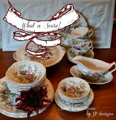 Sweet Inspirations by JP designs: Sheraton Dinnerware & Oh, What A Score!