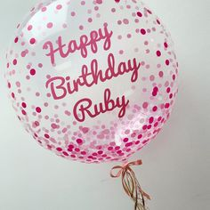 S T U N N I N G personalised balloons perfect for your next occasion 💖 choose from a variety of balloon colours and any text colour! Perfect for birthdays, baby shower's, anniversaries and everything in between 🎈 message now to book yours! Name Balloons, Balloon Words, Clear Balloons, Yellow Balloons, Rose Gold Balloons, Bubble Balloons, Printed Balloons, Helium Balloons, Confetti Balloons