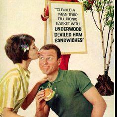 man trap! vintage Underwood deviled ham ad copy