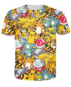 Electric Type Pokemon Short Sleeve Tshirt