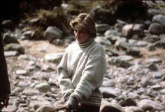 May 5, 1981: Lady Diana Spencer salmon fishing on the River Dee at Queen…
