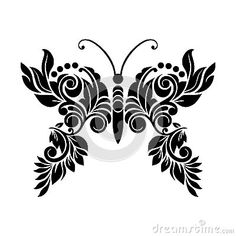 Illustration about Vector Abstract fantasy floral butterfly tattoo pattern for leaser cutting. Illustration of concept, leaser, heart - 106212146 Butterfly Art, Butterflies, Plasma Cutter Art, 3d Art Drawing, Silhouette Art, Black And White Illustration, Color Art, Pattern Cutting, Henna Art