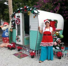 Sherry Downing  vintage trailer camper Christmas