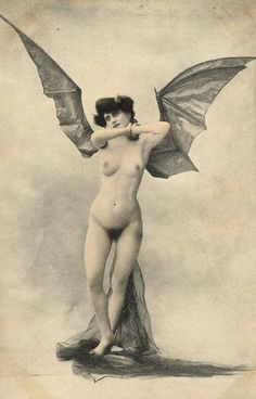 Edwardian Woman with Bat Wings