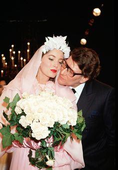 1989 - YSL Couture show - YSL & Lucie de la Falaise