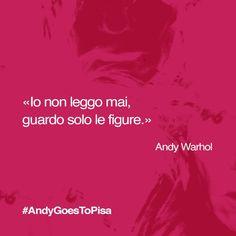 #AndyGoesToPisa mette in palio biglietti gratis per la mostra di #Warhol a #Pisa, cosa aspettate? Reinterpretate le nostre immagini e citazioni!