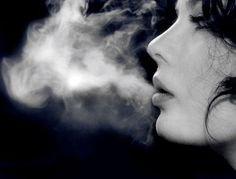 woman smoking large