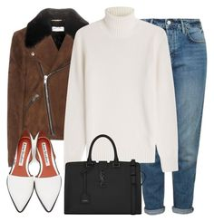 """""""Untitled #2623"""" by elenaday on Polyvore featuring Yves Saint Laurent, Topshop, Michael Kors, Acne Studios, women's clothing, women, female, woman, misses and juniors"""