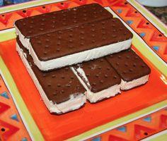 Ice Cream Sandwich Cake Recipe - NO BAKING REQD!  Easy to do!