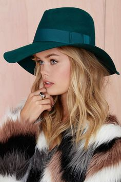 Nasty Gal Covert Wool Hat - Emerald wow so gorgeous