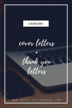Today we're discussing how to write a good cover letter & thank you letter when applying for a new job. This is a huge step in the application process