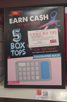Getting A Head Start On Our Box Tops For Education Collection #BTFE #ad