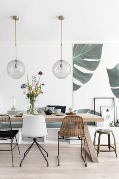 Beautiful Scandinavian Dining Room Design Ideas - This short article includes a number of quick suggestions to look for when scouting for the seating for your dining area in your house. Dining Room Design, Dining Area, Small Dining, Dining Rooms, Dining Room Lamps, Dining Room Bench, Dining Decor, Dining Table, Interior Design Living Room