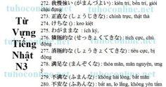 Từ vựng N3 sách mimi kara oboeru 28