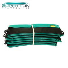 Order New - XT Extreme Series Safety Pad - 20 oz PVDF Vinyl (Green) Superior UV protection & extended lifespan. Dual layered foam for added protection. Super Bounce, Trampoline Safety, Pad, Big Waves, Things That Bounce, Green