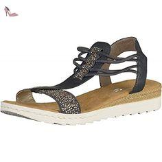 Rieker 63062 femmes Sandale Sombre, EU 36 - Chaussures rieker (*Partner-Link)