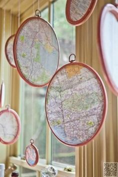 11. Map #Pendants - Inspiring #Decor Ideas to #Satisfy Your Wanderlust ... → DIY…