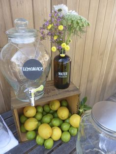 Dress up a crate with limes and lemons