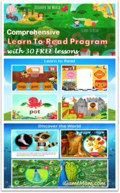 comprehensive learn-to-read program for kids with free lessons - a free app for kids #kidsapps #FreeApps