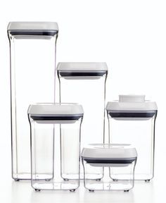 Keep your snacks fresh and visible for all to see with this OXO 5-Piece Pop Container Set.