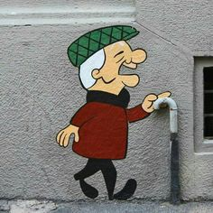 Mr. Magoo street art.