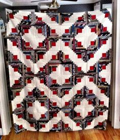 This is a quilt made from neck ties :)