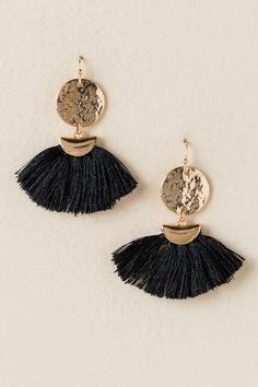 Indra Circle Fan Tassel Earring