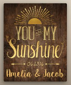 Look what I found on #zulily! 'You Are My Sunshine' Personalized Wrapped Canvas #zulilyfinds