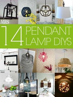 14 Stylish DIY Pendant Lights (with tutorials!) via Remodelaholic.com #diy #pendantlight #lighting