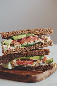 vegan chickpea tuna sandwich | RECIPE on hotforfoodblog.com
