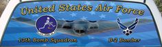 United States Air Force 13th Bomb Squadron Rear Window Graphic Mural.