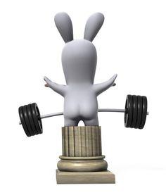 le lapin fait du sport