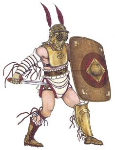 Updated Chronological research, classification and reconstructions, based on theories regarding the evolution of Roman gladiatorial games and equipment. Ancient Rome, Ancient Greece, Ancient History, Gladiator Characters, Gladiator Armor, Roman Gladiators, Marshal Arts, Castor And Pollux, Roman History