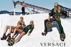 Photo: Steven Klein/Versace spring 2016 Versace campaign — Gigi Hadid, Natasha Poly, Raquel Zimmermann