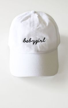 6b04a2430154f Babygirl Cap - White Girls Baseball Hats