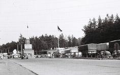 Grenzübergang in Albrechts Teerofen in  den 50iger Jahren