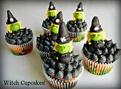 Witch Cupcakes · Edible Crafts   CraftGossip.com