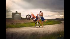 Dirt bike engagement picture