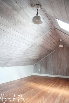 11 Wood Wall Paneling Makeover Ideas - How to Update and Paint Wood Paneling - Home Reno Wood Paneling Makeover, Painting Wood Paneling, Paneling Ideas, Paneling Walls, White Washed Wood Paneling, Cover Wood Paneling, Faux Painting, Attic Renovation, Attic Remodel