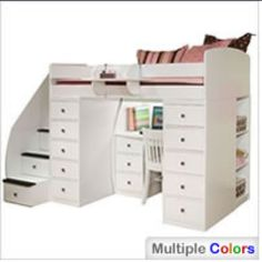 Loft bed. Love it for Anna.